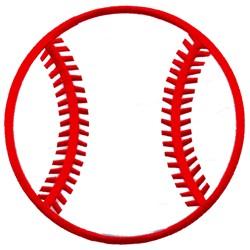 Baseball Applique embroidery design