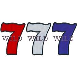 Wild Seven Applique embroidery design