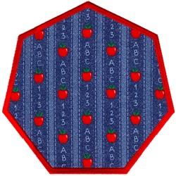 Heptagon Applique embroidery design