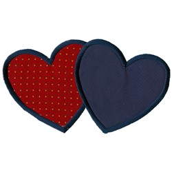 Overlapping Hearts embroidery design