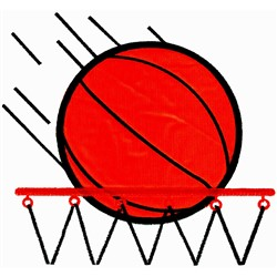 Shooting Hoops Applique embroidery design