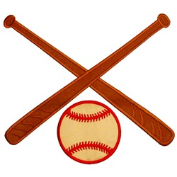 Baseball and Bats embroidery design
