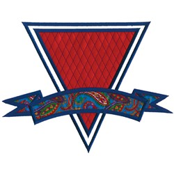 Banner Quilted Triangle embroidery design