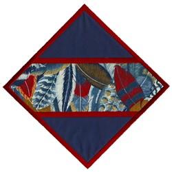 Split Diamond Applique embroidery design