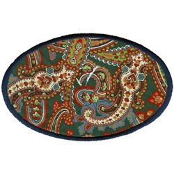 Large Oval Applique embroidery design