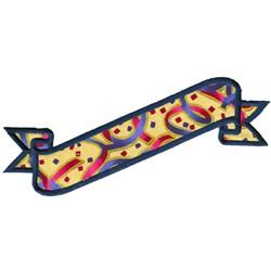 Confetti Banner Applique embroidery design