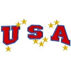 USA Applique embroidery design