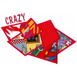 Crazy Applique embroidery design