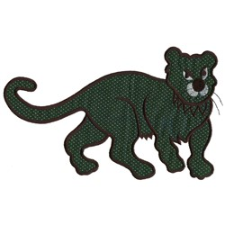 Wildcat Applique embroidery design