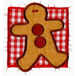 Gingerbread Man Patchwork embroidery design