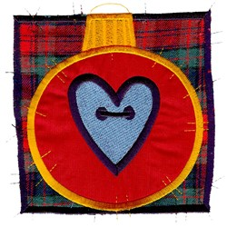Heart Ornament Patchwork embroidery design