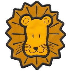 Applique Lion Face embroidery design