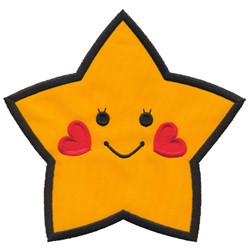 Applique Happy Star embroidery design