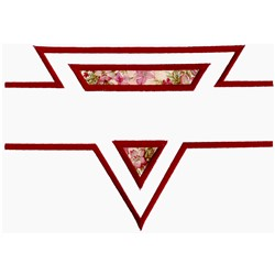Broken Triangle Applique embroidery design