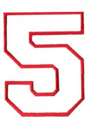 Athletic 5 embroidery design