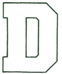 Athletic D embroidery design
