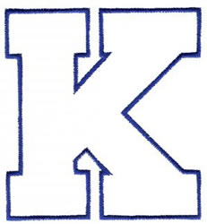 Athletic K embroidery design