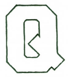 Athletic Q embroidery design