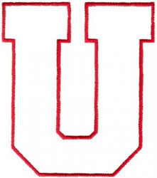 Athletic U embroidery design