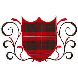 Embellished Shield Applique embroidery design