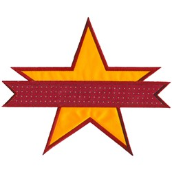 Star with Banner embroidery design