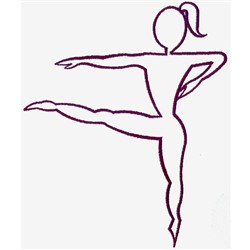 Dancer Outline embroidery design
