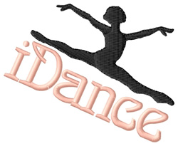 iDance embroidery design