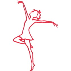 Tall Dancer Outline embroidery design