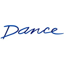 Dance Lettering embroidery design