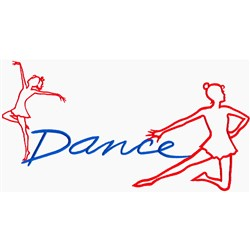 Dance Girls embroidery design