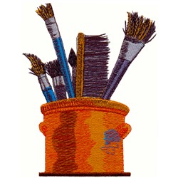 Paint Brushes embroidery design