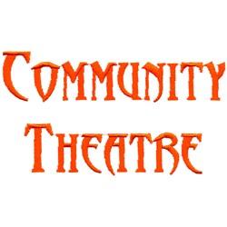 Community Theatre embroidery design