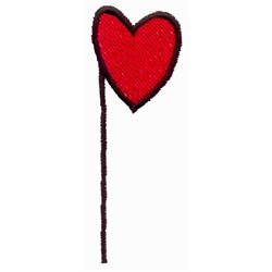 Quarter Note Heart embroidery design