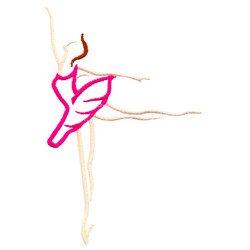 Abstract Ballet Dancer embroidery design