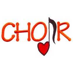 Choir embroidery design