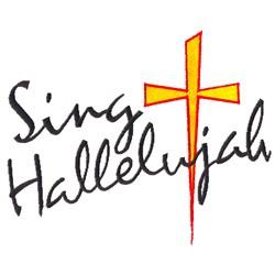 Sing Hallelujah embroidery design