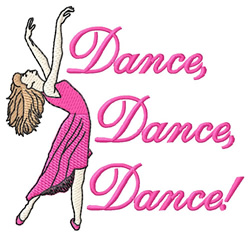 Dance,Dance,Dance embroidery design