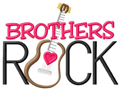Brothers Rock embroidery design