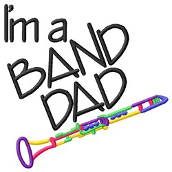 Clarinet Band Dad embroidery design