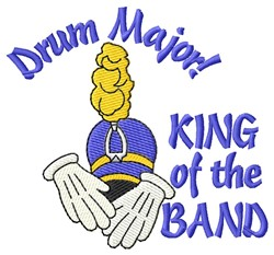 King Of Band embroidery design