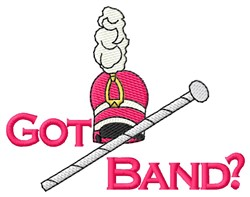 Got Band? embroidery design