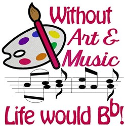 Art and Music embroidery design