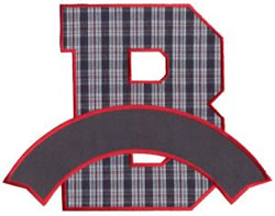 Athletic Banner B embroidery design