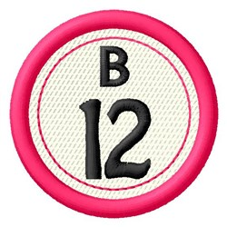 Bingo B12 embroidery design