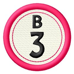 Bingo B3 embroidery design