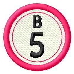 Bingo B5 embroidery design