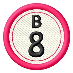 Bingo B8 embroidery design