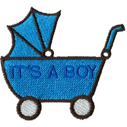 Its A Boy Carriage embroidery design