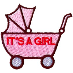 Its A Girl Carriage embroidery design