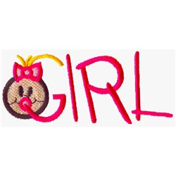 Girl Lettering embroidery design